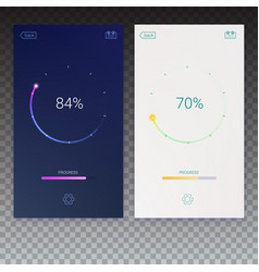 Progress load for mobile apps web preloader on vector