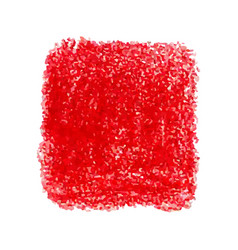 Red crayon scribble texture stain isolated on vector