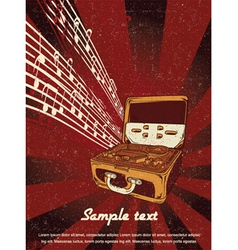 retro concert poster vector image vector image