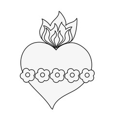 Sacred heart cartoon vector
