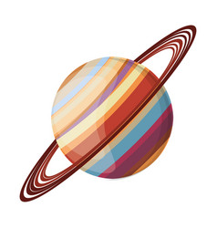 Saturn planet space image vector