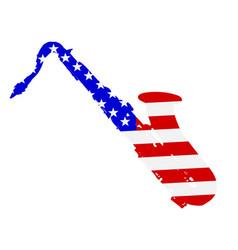 saxophone flag background vector image