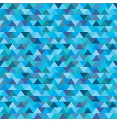 Seamless blue zig zag triangle pattern vector