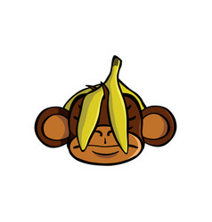 see no evil monkey vector image