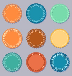 Set of labels or stickers vector image