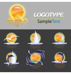 Set of various logos of the travel company vector