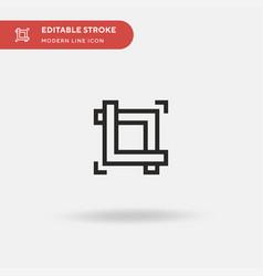 shape simple icon symbol vector image