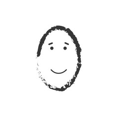 simple grunge happy emoticon drawing on white vector image
