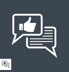 Social engagement glyph icon vector