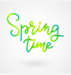 spring lettering spring time paper cut lettering vector image