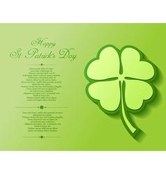 St Patricks Day background vector
