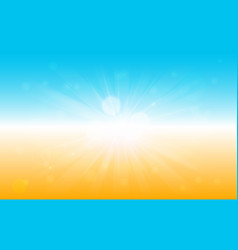 summer themed banner with hot sunshine vector image