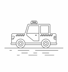 taxi cars line icon vector image