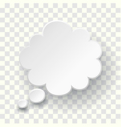 thought text bubble symbol blank empty speech vector image
