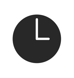 time icon clock sign vector image