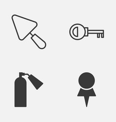 Tools icons set collection of location putty vector