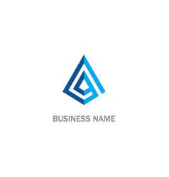Triangle 3d abstract company logo vector