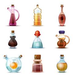 Vinegar icon set cartoon style vector