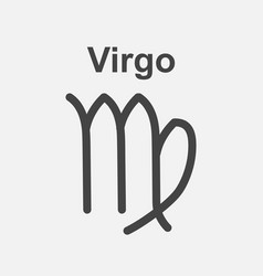 virgo zodiac sign flat astrology on white vector image