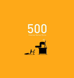 website error 500 internal server error artwork vector image