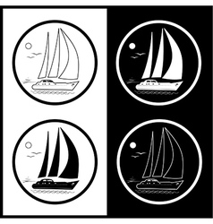 Yacht icons vector