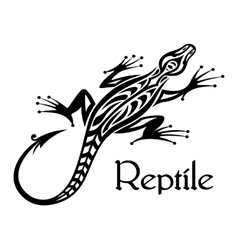Black lizard silhouette vector image