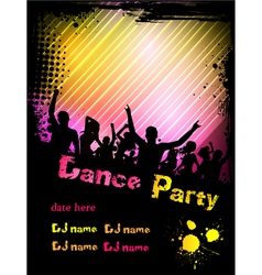 dance party poster vector image vector image