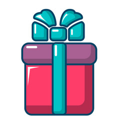 gift box icon cartoon style vector image