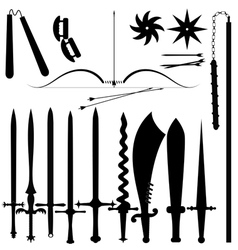 Set of item bladed weapons vector image vector image
