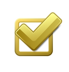 Yellow check box vector image