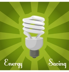 Concept energy saving lamp vector image vector image