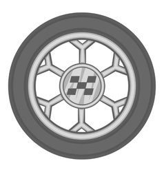 Wheel from racing car icon black monochrome style vector image vector image