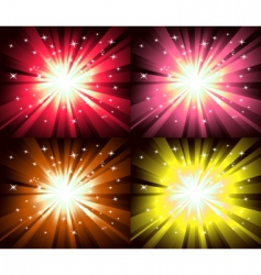 Christmas magic lights explosion vector image vector image