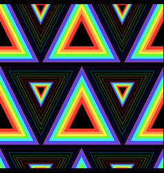 color rainbow triangles seamless pattern vector image vector image