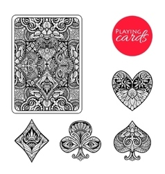 Decorative Card Suits Set vector image vector image