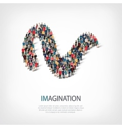 imagination people sign 3d vector image