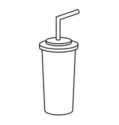 line soda beverage in the cinema movie scene vector image vector image