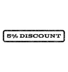 5 percent discount watermark stamp vector image vector image