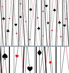 Abstract Seamless Poker Pattern vector image vector image