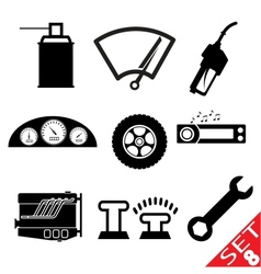 car part icon set 8 vector image vector image