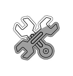 construction tools symbol vector image vector image
