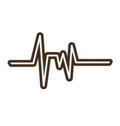 Healthy heart symbol isolated icon vector