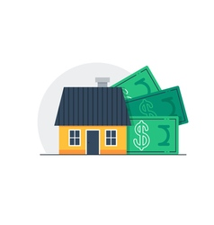 House cost home budget concept property expenses vector image vector image