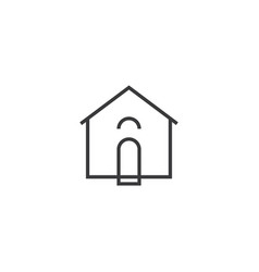 house icon line style vector image