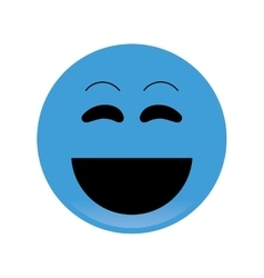 laughing emoticon icon vector image