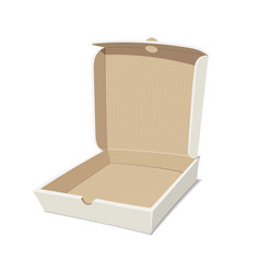 Open box for pizza vector