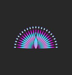 peacock bird logo gradient color beautiful bird vector image