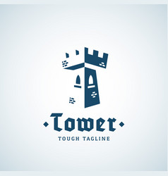 tower as a letter t abstract sign emblem vector image vector image