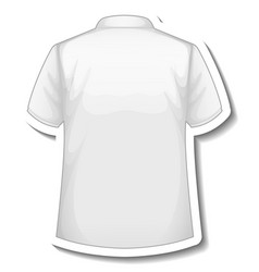a sticker template with back of white polo shirt vector image