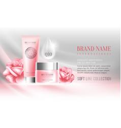 Advertising of cosmetics vector